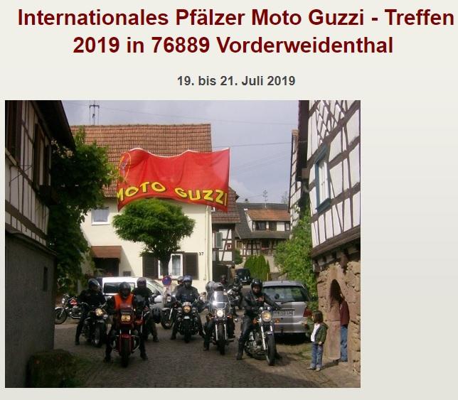 DE – Int. Pfälzer Moto Guzzi Treffen in 76889 Vorderweidenthal