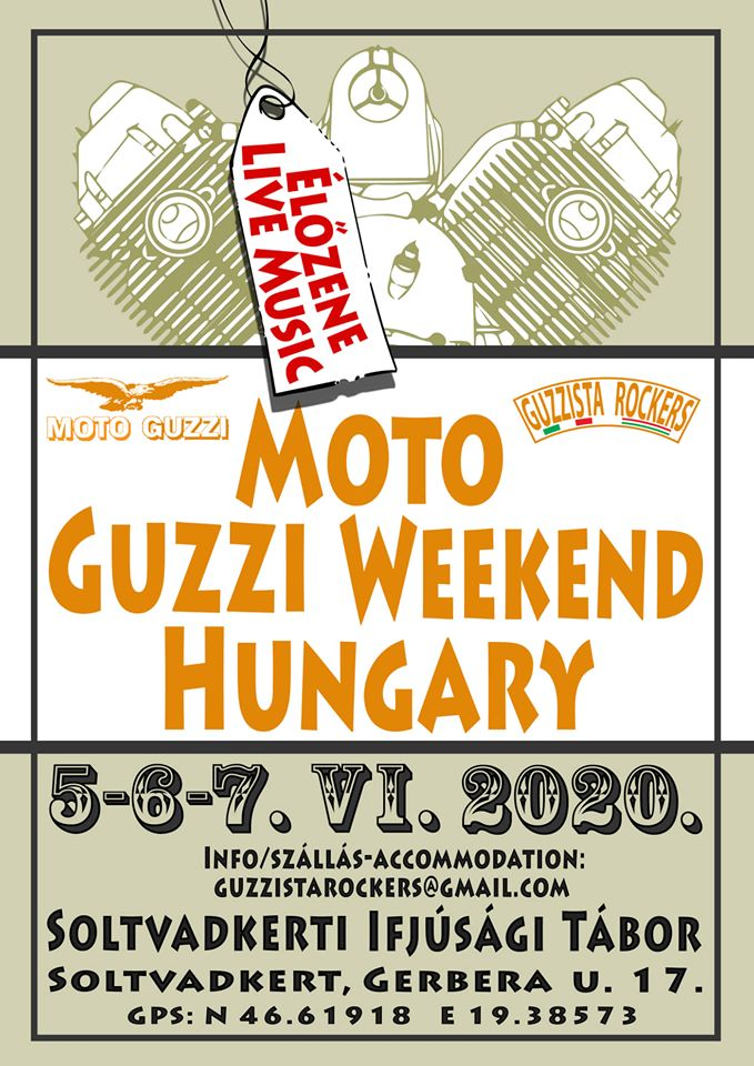 HU – ABGESAGT / CANCELD    UNGARN – Moto Guzzi Treffen Ungarn 2020